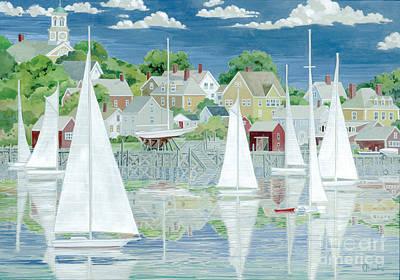 Captain's Harbor Print by Paul Brent