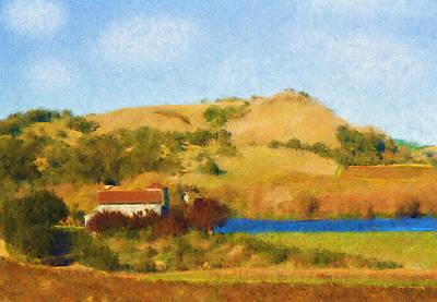 Napa Valley Digital Art - Carneros Valley by Mick Burkey