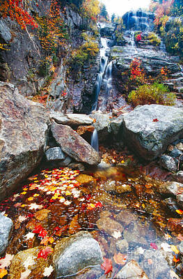 Cascades Of Color Print by George Oze