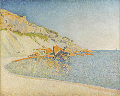 Pointillist Painting - Cassis, Cap Lombard, Opus 196 by Paul Signac