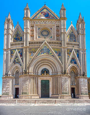 Florence Photograph - Cathedral Of Orvieto, Duomo Di Orvieto, Umbria, Italy by JR Photography