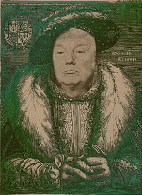 Portraits Photograph - Celebrity Etchings - Donald Trump by Serge Averbukh