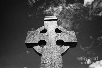 Celtic Cross In A Rural Irish Graveyard In Tydavnet County Monaghan Republic Of Ireland Print by Joe Fox