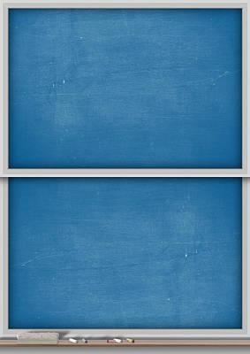 Rectangles Digital Art - Chalk Board Split by Allan Swart
