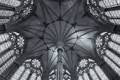 Chapter House Salisbury Cathedral Print by Stephen Taylor