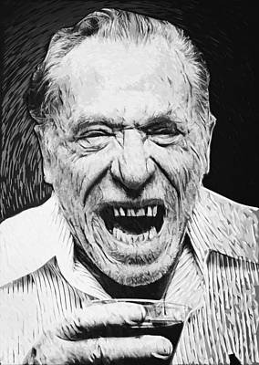 Charles Bukowski Print by Taylan Soyturk