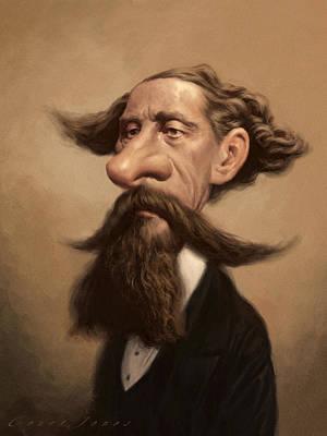Charles Dickens Print by Court Jones