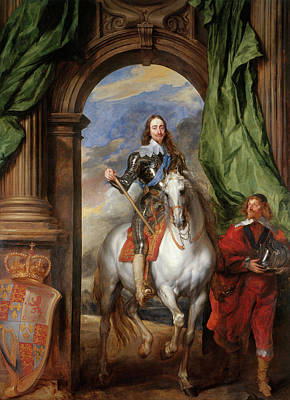 Monarch Painting - Charles I With M. De St Antoine by Anthony van Dyck