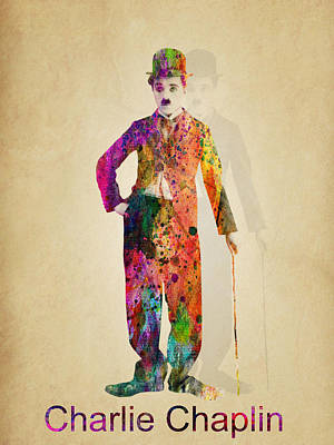 Charlie Chaplin Print by Mark Ashkenazi