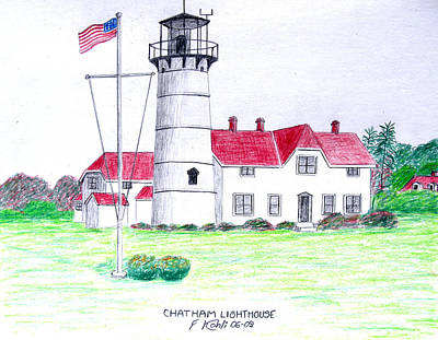 Coastal Drawing - Chatham Lighthouse  by Frederic Kohli