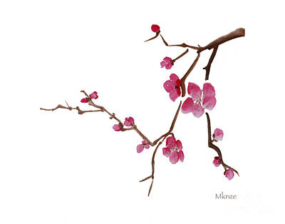 Cherry Blossoms 1d Print by McKenzie Leopold
