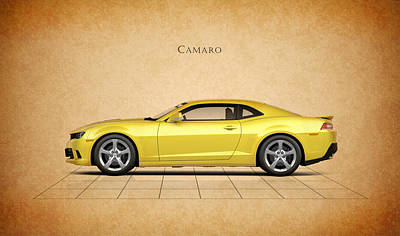 American Muscle Car Print featuring the photograph Chevrolet Camaro by Mark Rogan