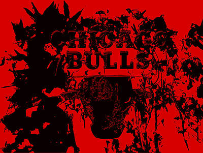 Chicago Bulls Print by Brian Reaves