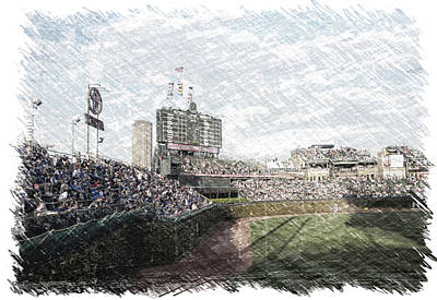 Scoreboard Mixed Media - Chicago Cubs Original Scoreboard Pa by Thomas Woolworth