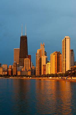 Lake Michigan Photograph - Chicago Skyline by Sebastian Musial