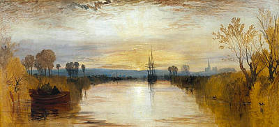 Country Painting - Chichester Canal by JMW Turner