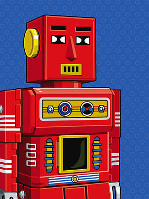 Chief Robot Print by Ron Magnes