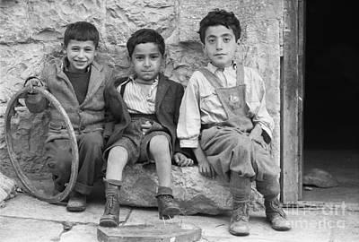 Children Playing Photograph - Children Playing In Jerusalem, 1952 by The Phillip Harrington Collection
