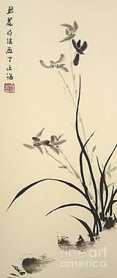 Chinese Orchid Original by Birgit Moldenhauer