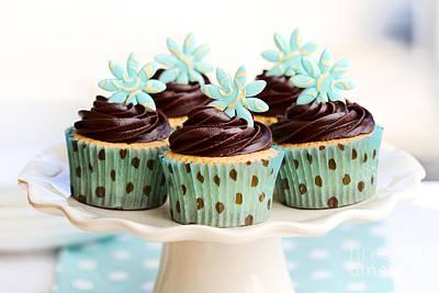 Chocolate Cupcakes Print by Ruth Black