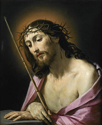 Guido Reni Painting - Christ As Ecce Homo by Guido Reni