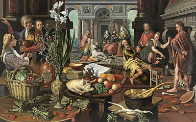 Pieter Aertsen Painting - Christ In The House Of Martha And Mary by Pieter Aertsen