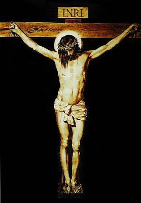 Custom Reproductions Pyrography - Christ On The Cross by Dino Muradian