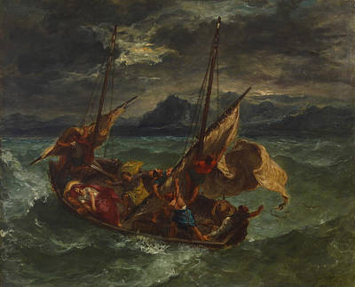 Romanticism Painting - Christ On The Sea Of Galilee by Eugene Delacroix