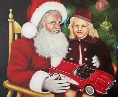 Santa Painting - Christmas Wish by Joni McPherson