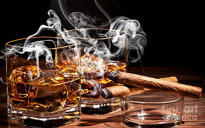 Cocktails Mixed Media - Cigar And Alcohol Collection by Marvin Blaine