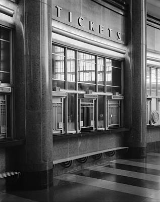 Cincinnati Union Terminal, Ticket Print by Everett