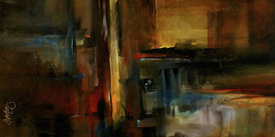 Earth Tones Painting - City On Fire by Michael Lang