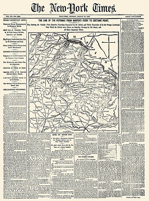 Civil War Map: Virginia Print by Granger