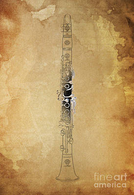 Balck Art Digital Art - Clarinet 21 Jazz B by Pablo Franchi