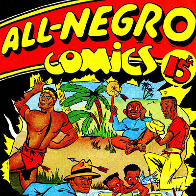 Classic Comic Book Cover All Negro Comics Square Print by Wingsdomain Art and Photography
