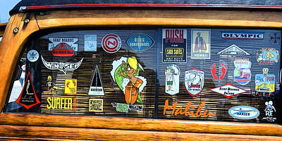 Woodie Digital Art - Classic Decals by Ron Regalado