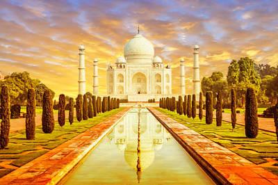 India Photograph - Classic Taj Mahal by Nila Newsom