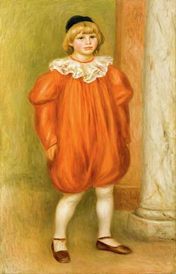 Pierre-auguste Renoir Painting - Claude Renoir In Clown Costume by Pierre-Auguste Renoir