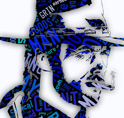 Clint Eastwood Mixed Media - Clint Eastwood In Quotes by Marvin Blaine