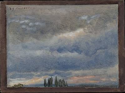 Johan Christian Dahl Painting - Cloud Study by Johan Christian Dahl