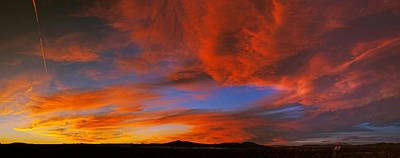 Clouds In The Sky At Sunset, Taos, Taos Print by Panoramic Images