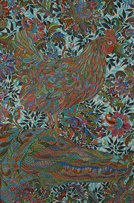 Social Commentary Painting - Clucking by Erika Pochybova