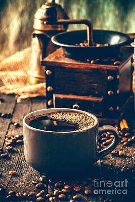 Coffee Print by Mythja Photography