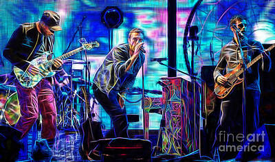 Coldplay Collection Chris Martin Print by Marvin Blaine