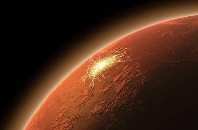 Colonization Of Mars Print by Allan Swart