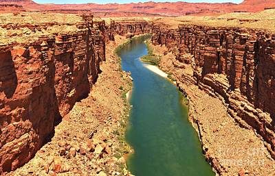 Colorado River Canyon Print by Adam Jewell