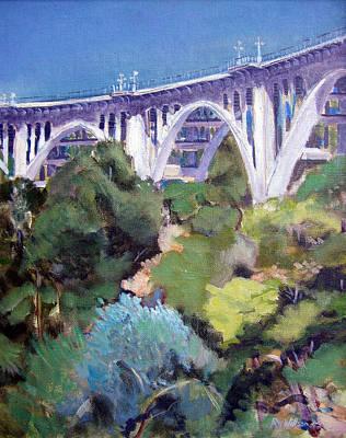 Pasadena Painting - Colorado Street Bridge by Richard  Willson