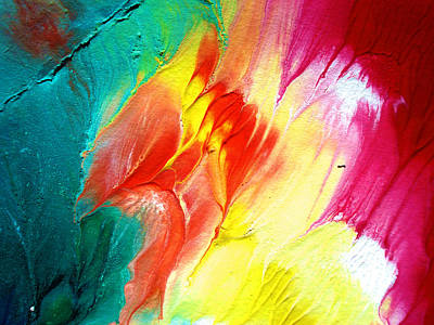 Texture Painting - Colorful Cloud by Sumit Mehndiratta