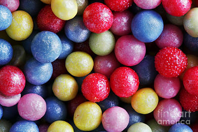 Tasty Photograph - Colorful Sweet Sugar Pearls Decoration. Close-up Background by Michal Bednarek
