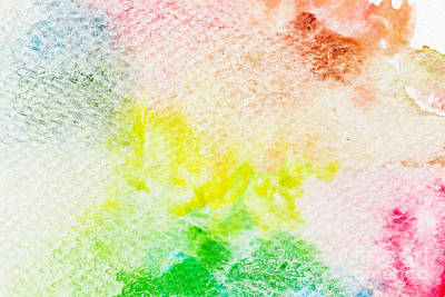 Paint Photograph - Colorful Watercolor Paint On Canvas. Super High Resolution And Quality Background by Michal Bednarek